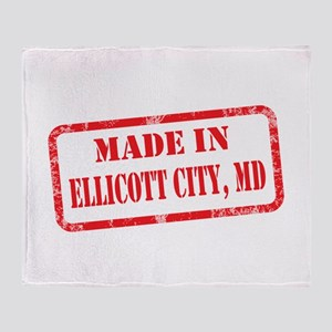 MADE IN ELLICOTT CITY, MD Throw Blanket