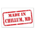MADE IN DCHILLUM, MD Sticker (Rectangle)