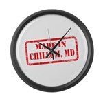 MADE IN DCHILLUM, MD Large Wall Clock