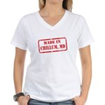 MADE IN DCHILLUM, MD Women's V-Neck T-Shirt