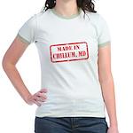 MADE IN DCHILLUM, MD Jr. Ringer T-Shirt