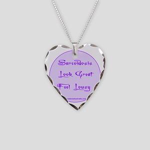 Sarcoidosis Necklace Heart Charm