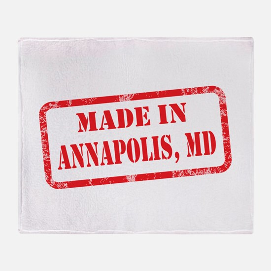 MADE IN ANNAPOLIS, MD Throw Blanket