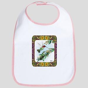 Hummingbirds and Flowers #4 Bib