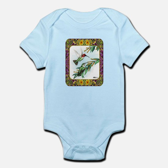 Hummingbirds and Flowers #4 Infant Bodysuit