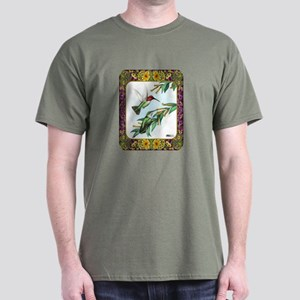 Hummingbirds and Flowers #4 Dark T-Shirt