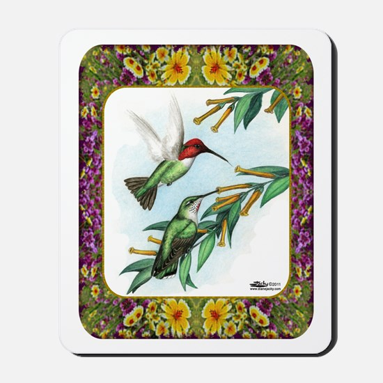Hummingbirds and Flowers #4 Mousepad