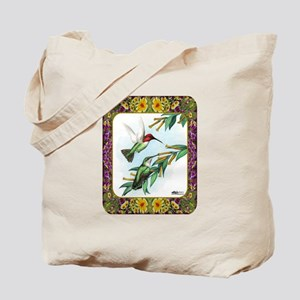 Hummingbirds and Flowers #4 Tote Bag
