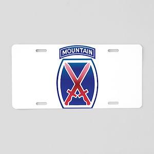 10th Mountain Division - Clim Aluminum License Pla