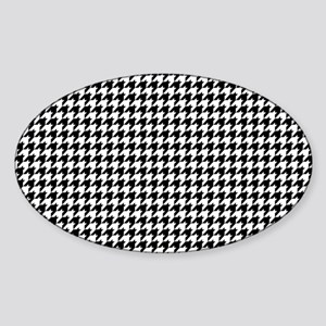 Houndstooth Heaven Sticker (Oval)