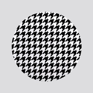 "Houndstooth Heaven 3.5"" Button"