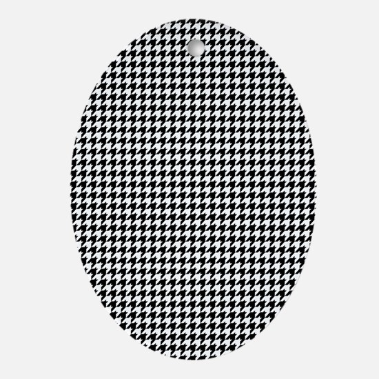 Houndstooth Heaven Ornament (Oval)