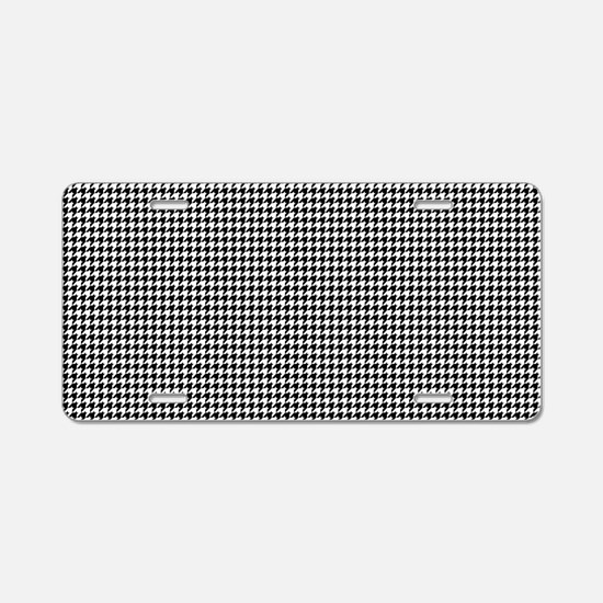 Houndstooth Heaven Aluminum License Plate