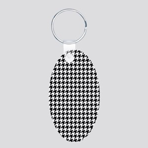 Houndstooth Heaven Aluminum Oval Keychain