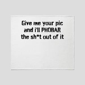 Phobar! Throw Blanket