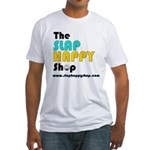 Slap Happy Shop Fitted T-Shirt