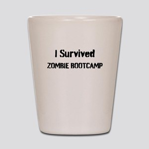 I Survived Zombie Bootcamp! Shot Glass