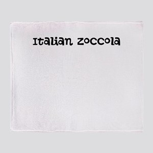 Italian Zoccola Throw Blanket