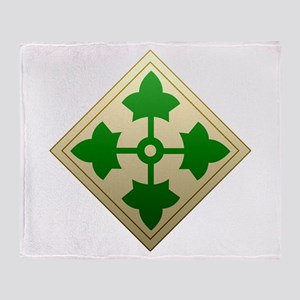 4th Infantry Division - Stead Throw Blanket