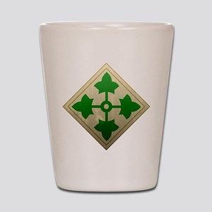 4th Infantry Division - Stead Shot Glass