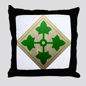 4th Infantry Division - Stead Throw Pillow