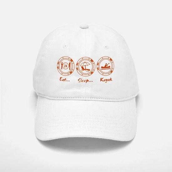 Eat Sleep Kayak (O) Baseball Baseball Cap