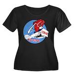 1 ERHG Women's Plus Size Scoop Neck Dark T-Shirt
