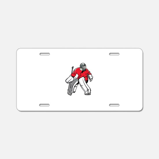 Cute Goalie Aluminum License Plate