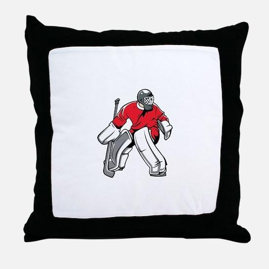 Cute Ice hockey goalie Throw Pillow