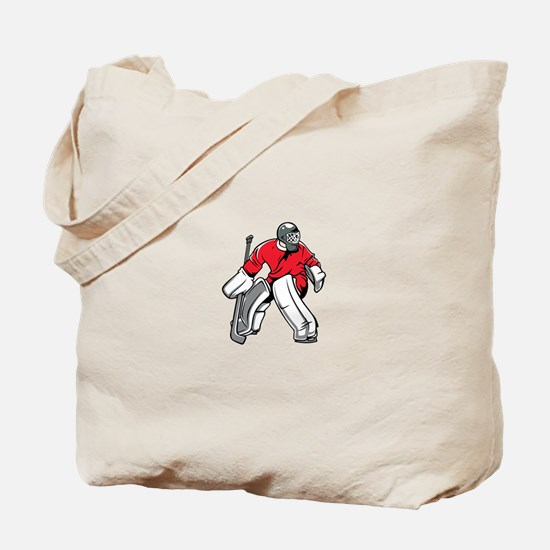 Cute Ice hockey goalie Tote Bag