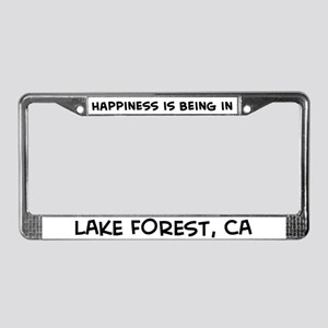 Happiness is Lake Forest License Plate Frame