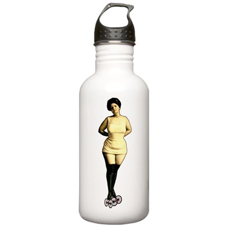 Vintage Roller Babe Stainless Water Bottle 1.0L
