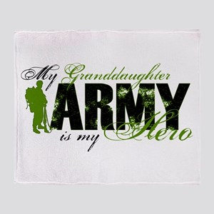 Granddaughter Hero3 - ARMY Throw Blanket