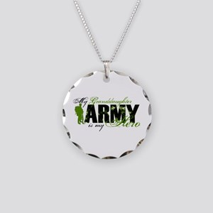 Granddaughter Hero3 - ARMY Necklace Circle Charm