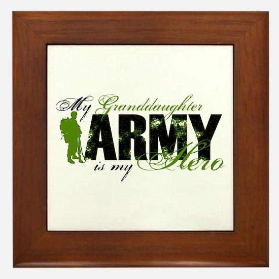 Granddaughter Hero3 - ARMY Framed Tile