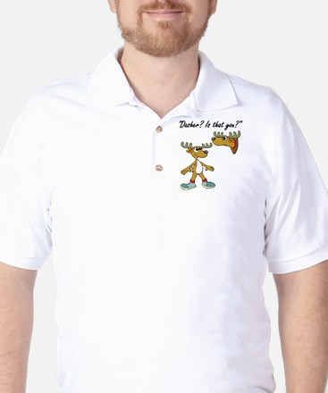 Santa Reindeer Golf Shirt