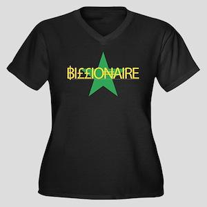 Billionaire Women's Plus Size V-Neck Dark T-Shirt