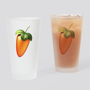 FL Logo Colored Drinking Glass