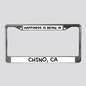 Happiness is Chino License Plate Frame