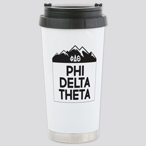Phi Delta Theta M 16 oz Stainless Steel Travel Mug