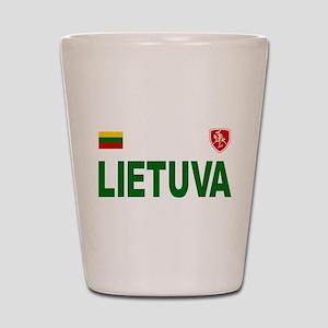 Lietuva Olympic Style Shot Glass