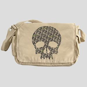 Lietuva Distressed Skull Patt Messenger Bag