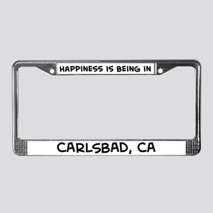 Happiness is Carlsbad License Plate Frame