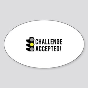 Challenge Accepted Sticker (Oval)
