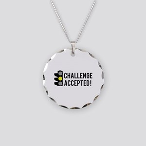 Challenge Accepted Necklace Circle Charm