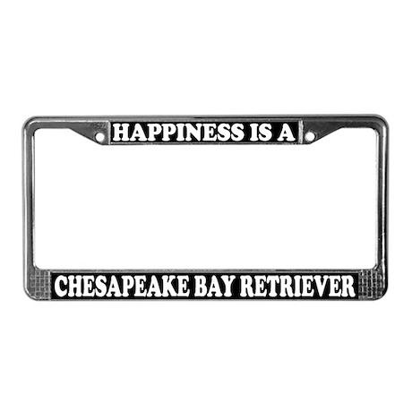 Happy Chesapeake Bay Retriever License Plate Frame