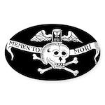 Memento Mori Gothic Sticker