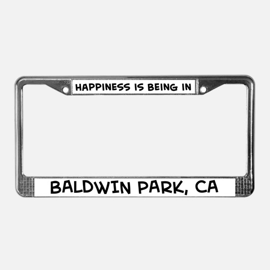 Happiness is Baldwin Park License Plate Frame