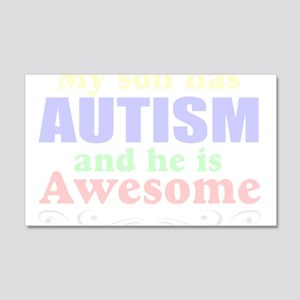 Awesome autism son 22x14 Wall Peel