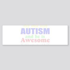 Awesome autism son Sticker (Bumper)